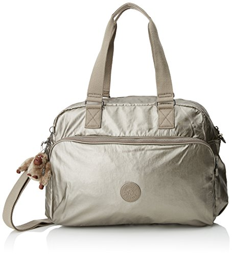 Kipling July Tote cm 21 45 Travel Metallic Bag Pewter L ZFvgFT