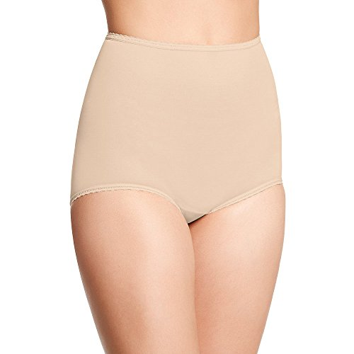 Bali Women`s Set of 6 Skimp Skamp Brief Panty - Best-Seller! 8, Mocha Mist