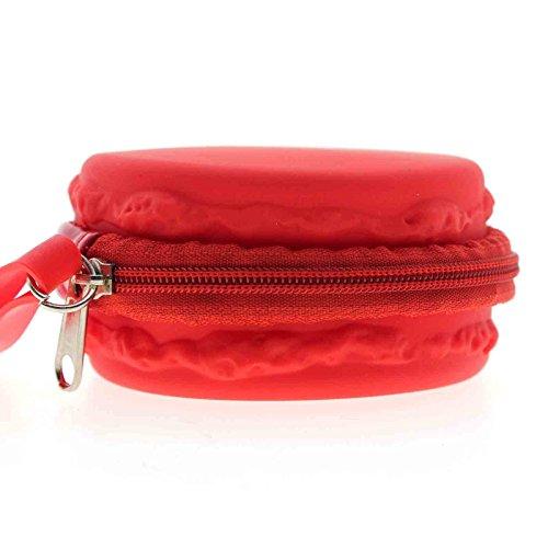 百思买 MMRM Silicone Macaron Style Coin Case Candy Purse Wallet Pouch