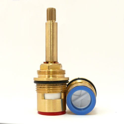 Ceramic Disk Stem - Replacement brass ceramic disc 3/4 tap valve gland insert long stem by GoldStar