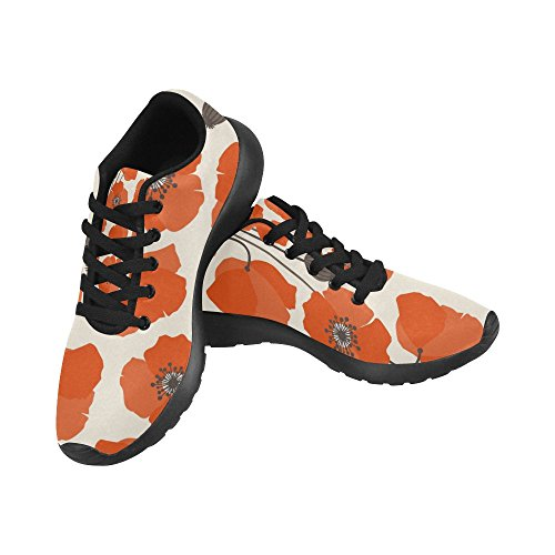 Scarpa Da Jogging Leggera Da Donna Running Jogging Leggera Easy Go Walking Comfort Sports Shoes Pattern Papavero