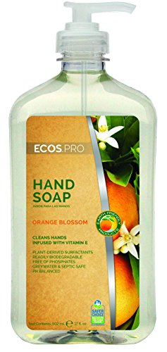 ECOS PRO PL9484/6 Hand Soap, Orange Blossom (Pack of 6)
