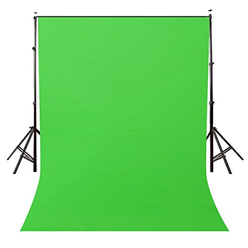 LYLYCTY Background 5x7ft Non-Woven Fabric Solid Color Green Screen Photo