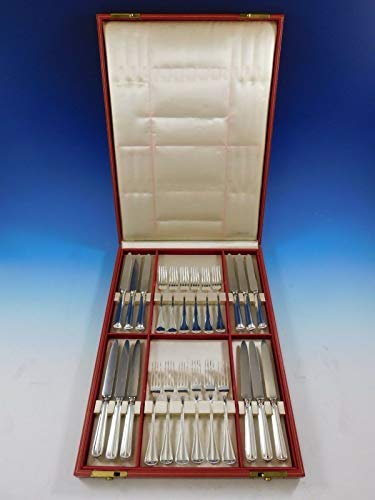 Milano by Buccellati Sterling Silver Flatware Set Fruit Knife and Fork 24 pieces