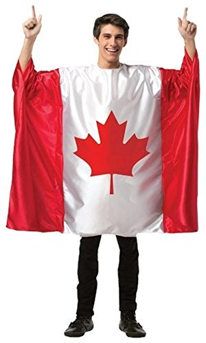Adult Flag Tunic Costume (Canada) (Usa National Costume For Men)