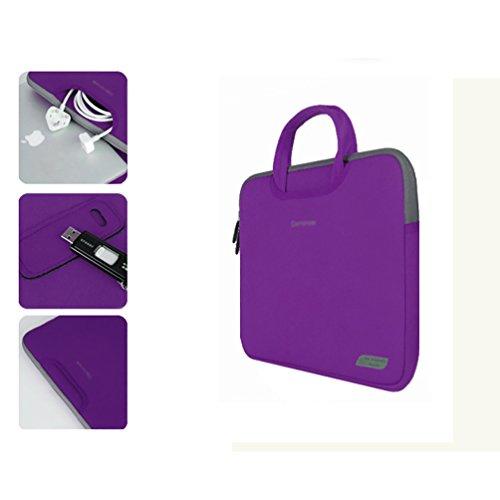 YiJee Mujer Maletín Universal para Portátil Tablet de 11 -15 Pulgadas 13 Inch Púrpura