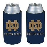 NCAA 2013 College Ultra Slim Beer Can Holder Koozie 2-Pack (Notre Dame Irish)