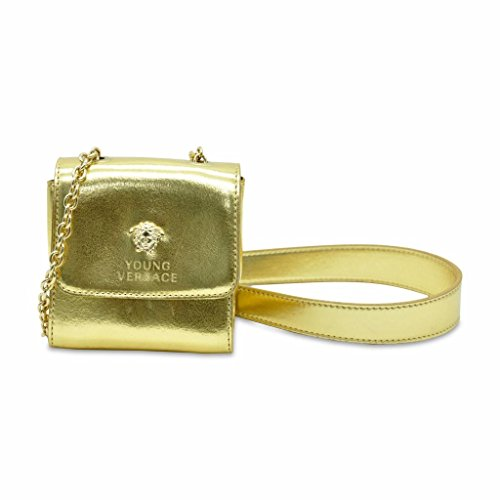 YOUNG-VERSACE-Girls-Gold-Patent-Shoulder-Bag-Medusa-Logo-YBF0016