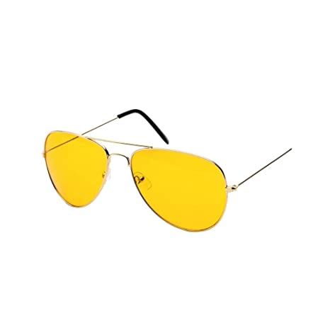 Amazon.com: fheaven visión nocturna Aviator anteojos de sol ...