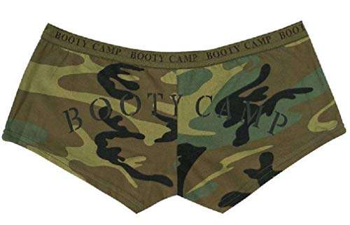 Women's Booty Shorts Casual Army Lounging Shorts Military (Woodland Spandex Shorts)