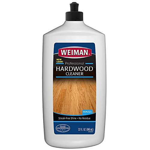 Weiman Wood Floor Cleaner - 32 Ounce - For Hardwood, Finished Oak, Maple, Cherry, Birch, Engineered, and More - Professional, Safe, Steak-less