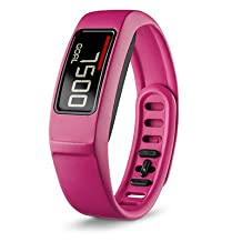 Garmin Vivofit 2 Smartwatch (Pink) - ACTIVITY TRACKER with Move Bar and Alerts - 24/7 WEARABLE and Personalized Daily Goals with AUTOMATIC SYNC FEATURE - 1 year Battery Life with USB ANT Stick and Manual INCLUDED