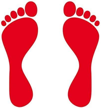 2 paar 20cm rojo 4 pies huellas de pie huellas Pegatine Tatuaje ...