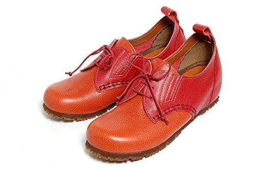 Ciesta Womens Casual Pumps [122-7300-m]{ Leather }[25-26.5 JP (7.5-9 US Women)] Brick G9MzKK6I