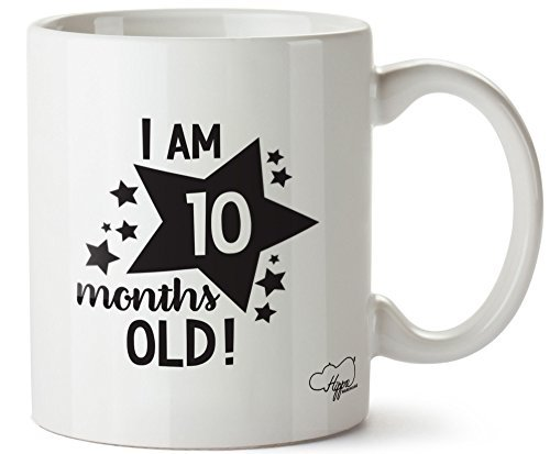 Valentine Herty I Am 10 Months Old! - Milestone Birthday Ceramic Coffee Mug Cup 11oz