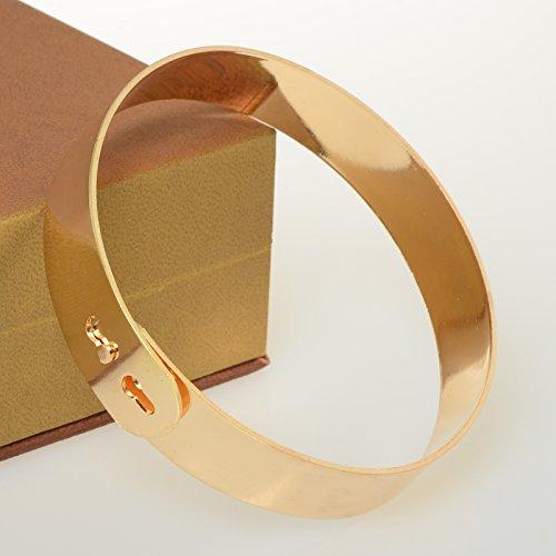 Imixlot Women's Fashion Band Foot Circle Anklet Cuff Bracelets Gold