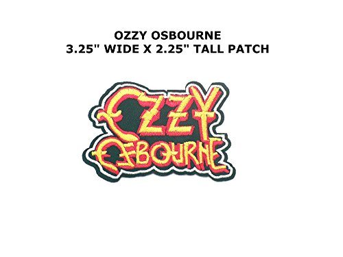 Ozzy Osbourne Text Rock Music Embroidered Iron/Sew-on Comics Cartoon Theme Logo - Rims Ozzy