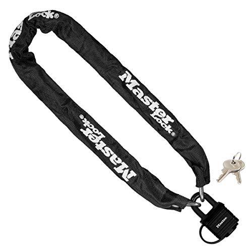 Master Lock Fietskettingslot met hangslot [Sleutel] [90 cm Ketting] 8390EURDPRO – voor Stadsfiets, Elektrische fiets…