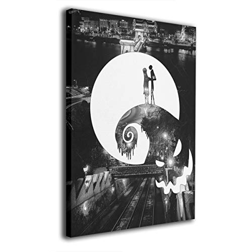 Zong Ten 12 X 16 Inch Paintings Nightmare Before Christmas Contemporary Artwork Abstract Art Wall Art Living Room Artwork On Canvas Ready to Hang Framed Art Bedroom Living Room ()