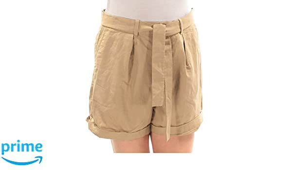 feff1980d Polo Ralph Lauren Womens Twill High Rise Khaki Shorts Tan 12 at Amazon  Women's Clothing store: