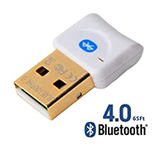 REDGO USB Bluetooth V4.0 Wireless Mini Adapter Dongle Fast Connection for PC Windows 10, 8.1, 8, 7, XP, Vista, Plug and Play, for BT Headset, Speaker, Mouse, Keyboard, White