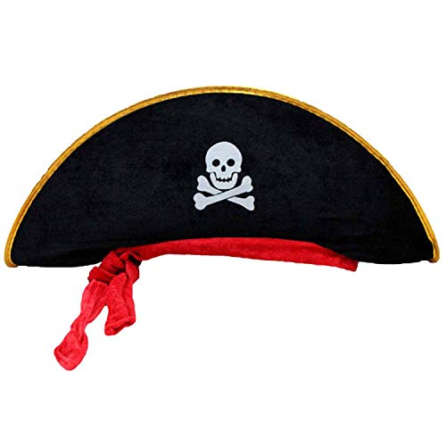 Halloween accessoriesCorsair Cap Festival Party Supplies,Black Pirate hat,1pc ()