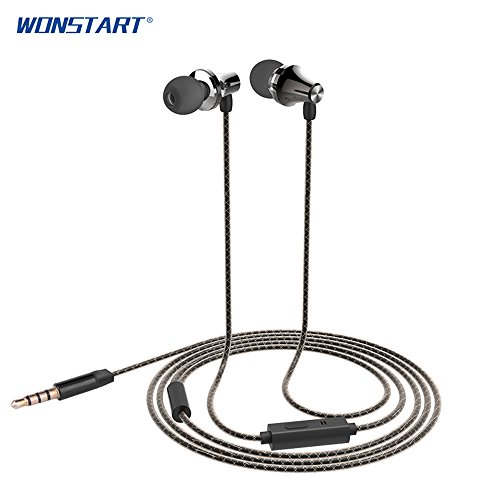 Wonstart ErgoFit Best in Class In-Ear Earbuds Headphones with Mic/Controller