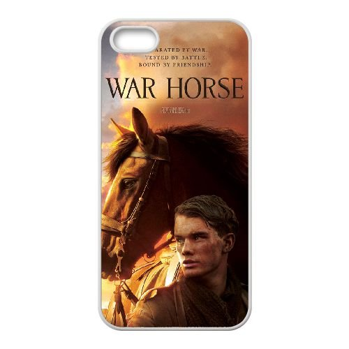 War Horse coque iPhone 4 4S cellulaire cas coque de téléphone cas blanche couverture de téléphone portable EOKXLLNCD20686