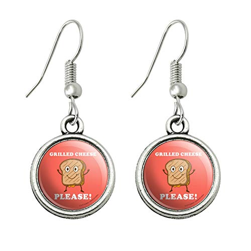 GRAPHICS & MORE Grilled Cheese Please Sandwich Funny Humor Novelty Dangling Drop Charm Earrings