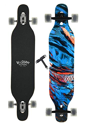 WiiSHAM Professional Speed Drop Down Complete Longboard Skateboard(42 Inches) (17)