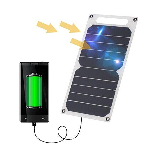 Zuukoo Cargador Solar, 10W 5V Panel Solar Portátil Batería Externa Power Bank con Puerto USB Cargador Móvil para…