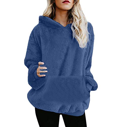 - Sunhusing Fashion Womens Flannel Plush Hooded Zipper Pocket Sweatshirt Winter Warm Outwear Top