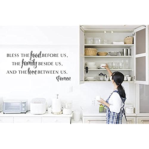 Wall decals for dining room amazon bless the food before us vinyl wall decal sticker sxxofo