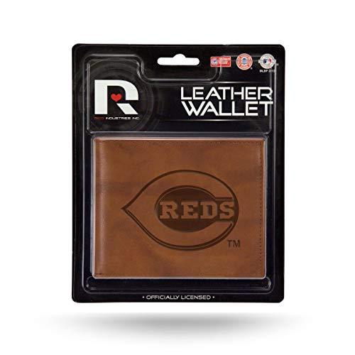 Cincinnati Reds MLB Embossed Brown Leather Billfold Wallet