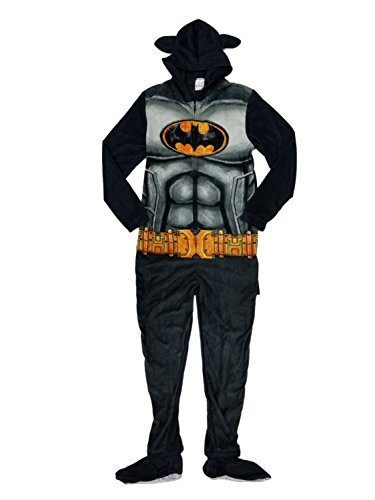 BioWorld Batman Union Suit Loungewear, Medium, Black ()