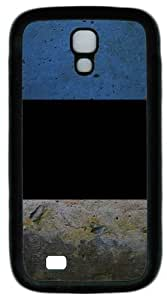 wall background TPU Case Cover for Samsung Galaxy S4 and Samsung Galaxy I9500 ¡§C Black