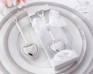 Tea Time' Heart Tea Infuser in Elegant White Gift Box - Total 24 items (Aspen Elegant Gift Box)