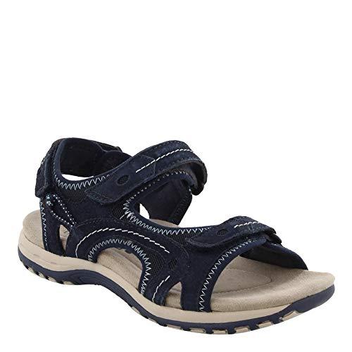 Earth Origins Women's, Beverly Sandal Navy 8.5 M (Spirit Earth Sandals)