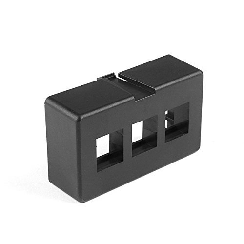 Hellermann Tyton FPFURN3-BLK Modular Furniture Faceplate 3 Port, PVC, ()