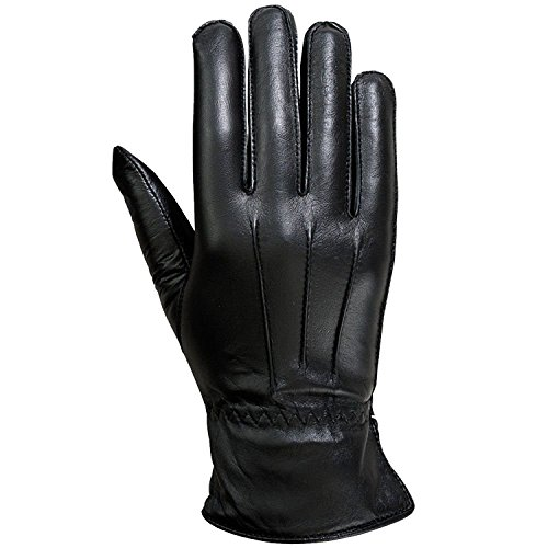 Ladies Warm Winter Gloves Dress Gloves Thermal Lining Geniune Leather Black (7)