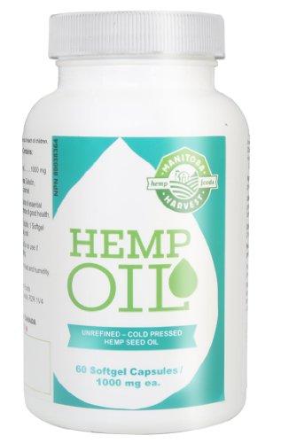 Manitoba Harvest Hemp Oil Soft Gels, 60 Count (Pack of 12) (Oil Harvest Seed Hemp Manitoba)