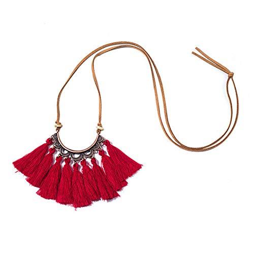 Finance Plan Antique Boho Ethnic Tassel Pendant Velvet Rope Sweater Chain Women Necklace Gift