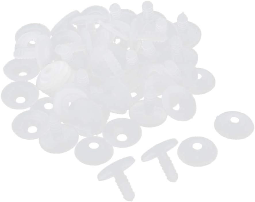 15 Millimetri Sharplace Giunti Giocattolo in Plastica Bianca 20//30 Set per Decorazioni Giocattolo per Bambole//Orsacchiotti//Animali