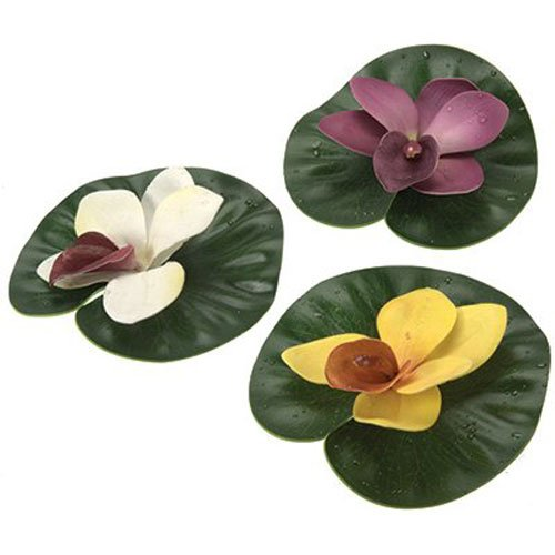 Pond Boss DFLP3 Assorted Colors Lily Pad Variety Pack 3 Count