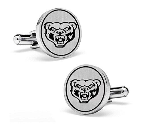 Oakland Athletics Cufflinks (Oakland Golden Grizzlies Cufflinks - Sterling Silver 19mm Round Top Cufflinks)