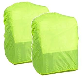 Hama funda de seguridad y de protección de lluvia para mochilas y mochilas (Señal Llamativa Protective Lluvia en color, con goma elástica, con bolsa), color amarillo, 2x Regenhülle, 1