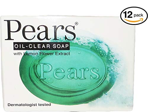 (Pears Oil-clear Bar Soap, with Lemon Flower Extract, Dermatologist Tested, 3.5 Ounces (Pack of 12))