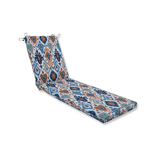 Pillow Perfect Outdoor   Indoor Paso Azure Chaise Lounge Cushion 80x23x3, Blue, 80 X 23 X 3 (Lounge Bohemian Chaise)