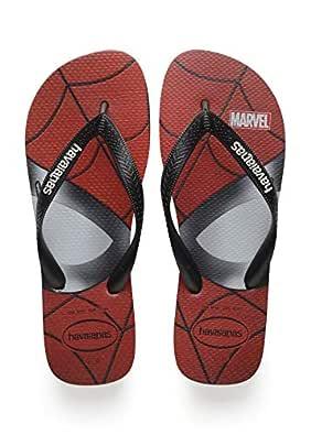 havaianas Mens Top Marvel Black Size: 8 US / 7 AU