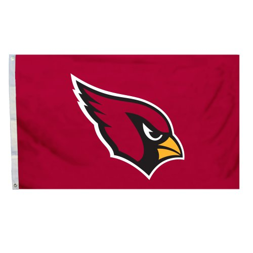 s Flag with Grommetts, 3 x 5-Feet (Arizona Cardinals Banner Flag)